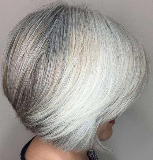 Short Haircuts for White Hair