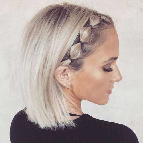 School Updo Hairstyles for Short Hair-10