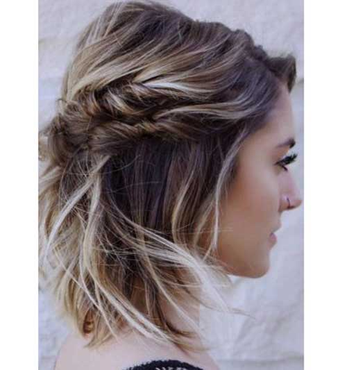 Simple Twisted Braid Party Hairstyles for Short Hair-13
