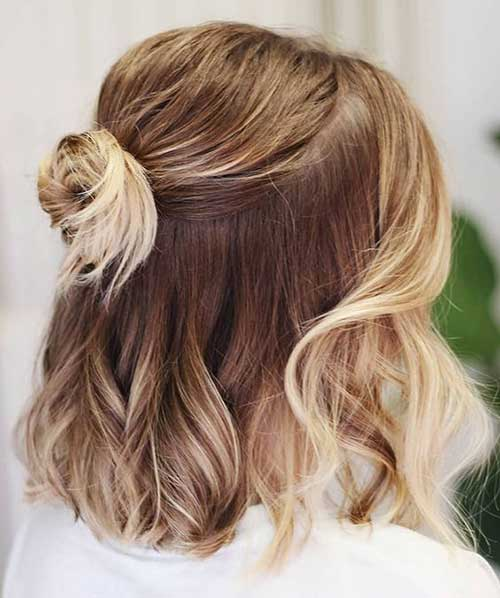 Simple Party Hairstyles for Short Hair-18