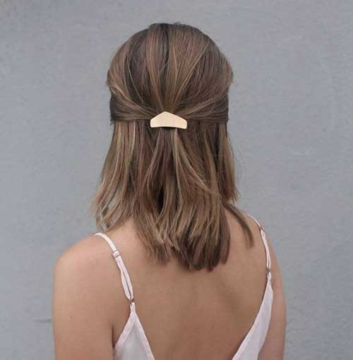 Simple Party Hairstyles for Short Hair-21