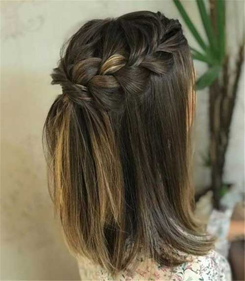 Simple Party Hairstyles for Short Hair-22