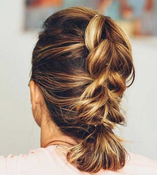 Simple Braided Party Hairstyles for Short Hair-7