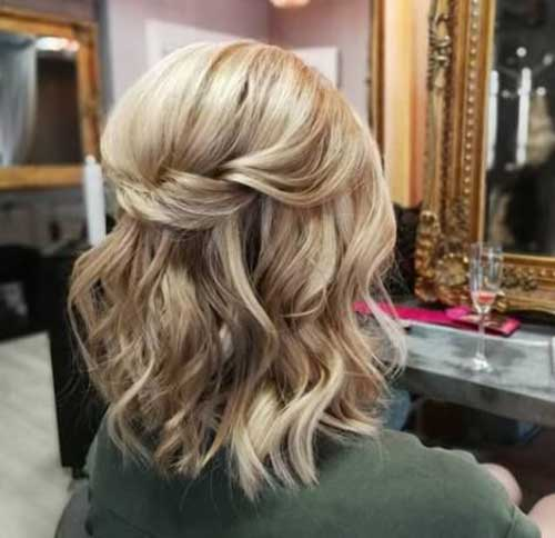 Simple Party Hairstyles for Short Blonde Hair-9