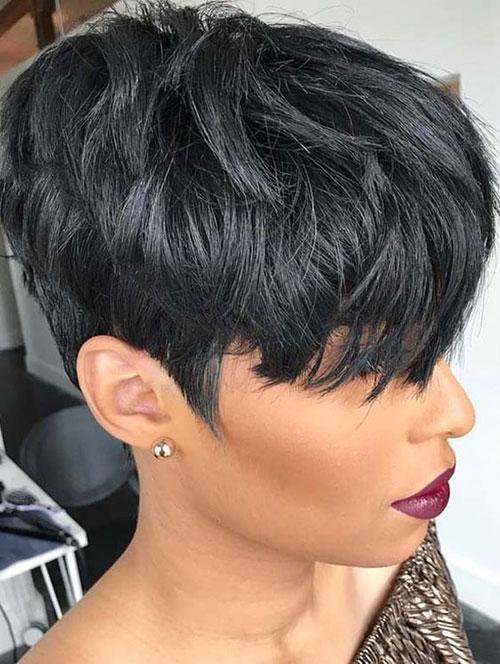 Short Sexy Black Hair-16