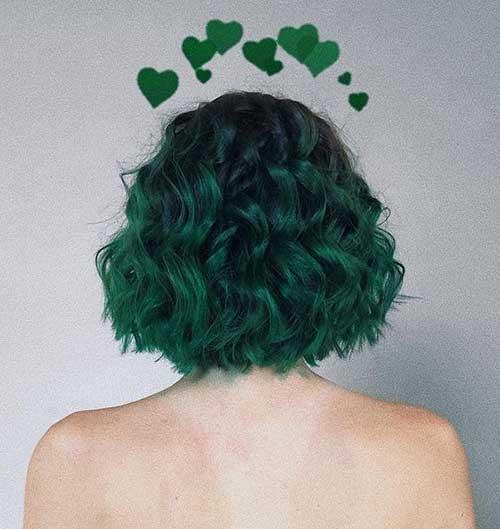 Green Short Hair Color Ideas-7