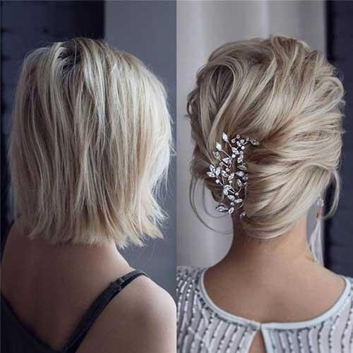 Short French Bun Hair for Wedding-10