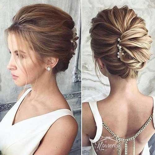 Classy Bun Short Hair for Wedding-7