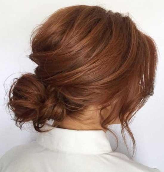 Short Messy Bun for Fine Hair-10