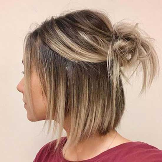 Blonde Balayage Hair Color for Short Hair-11