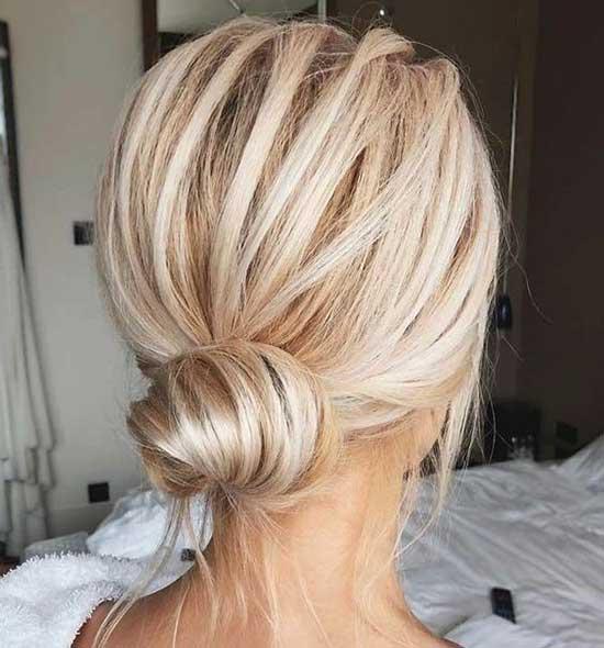 Messy Bun for Short Blonde Hair-11