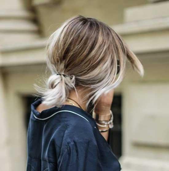 Messy Bun for Short Balayage Hair-12