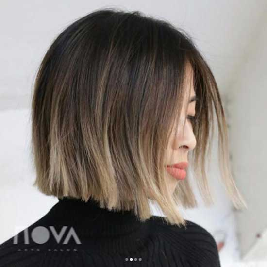 Ash Brown Hair Color for Short Hair-13