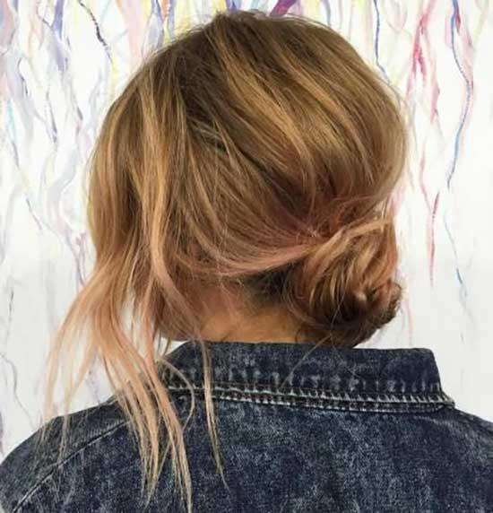 Messy Bun for Straight Short Hair-15