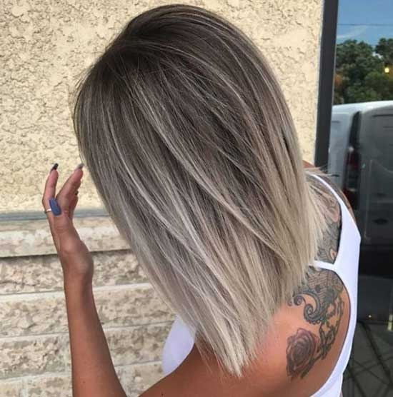 Silver Blonde Hair Color for Short Hair-15