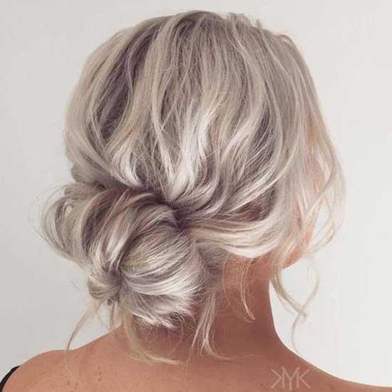 Messy Bun Short Hair-16