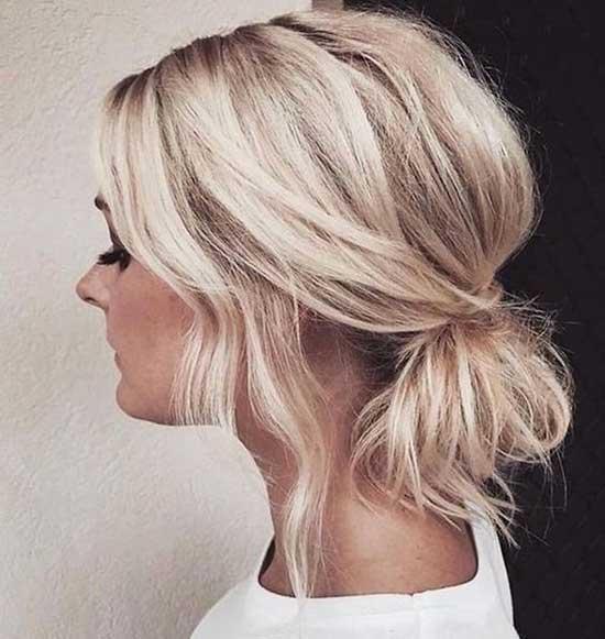 Messy Bun Short Hair-17