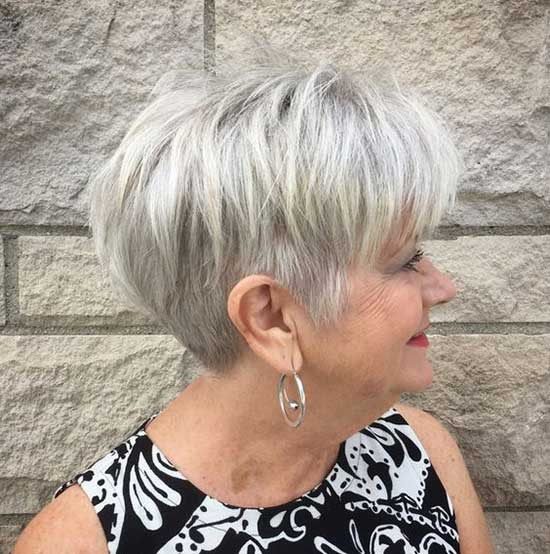 Platinum Short Haircuts for Women Over 60-17