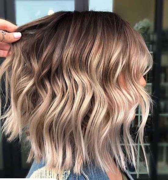 Short Haircuts for Wavy Ombre Hair-18