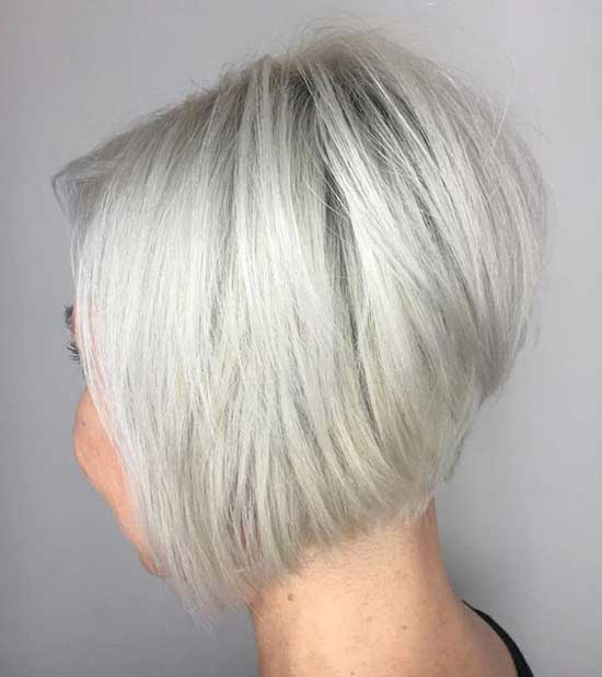 White Bob Hairstyles for Fine Hair-18