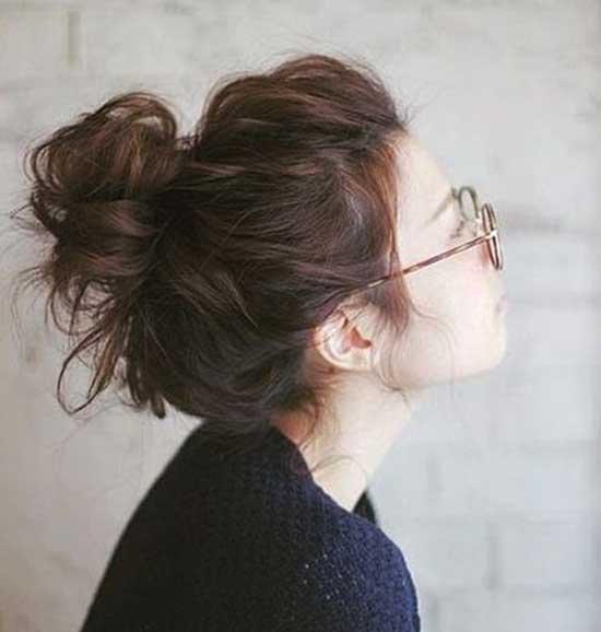 Messy Bun Short Hair-19