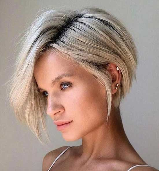 Bob Hairstyles for Fine Platinum Blonde Hair-19