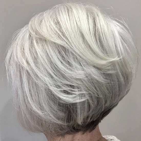 Layered Short Haircuts for Women Over 60-20