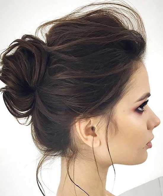 Messy Bun for Thin Brown Hair-6