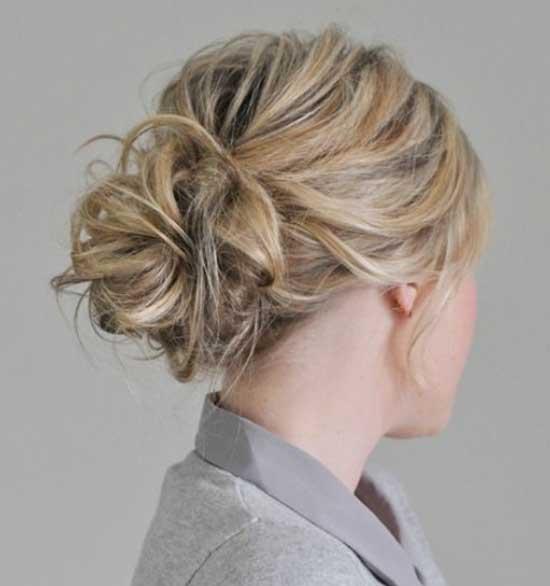 Easy Messy Bun for Short Hair-7