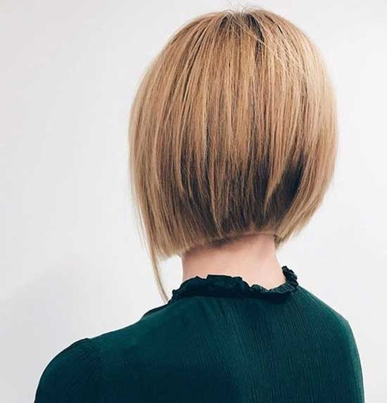 Straight Short Hairstyles Back View-7