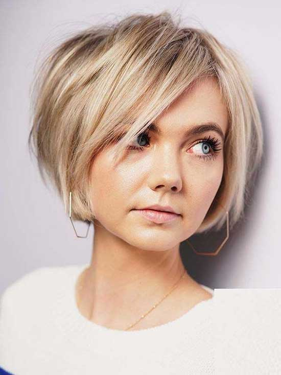 Side Bangs Bob Hairstyles for Fine Hair-9