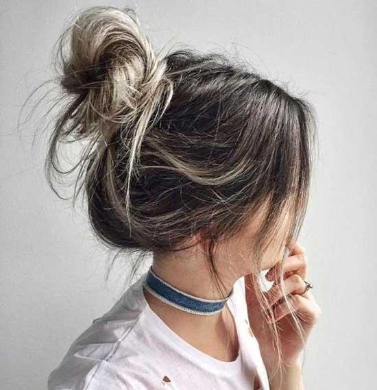 Cute Buns for Short Hair