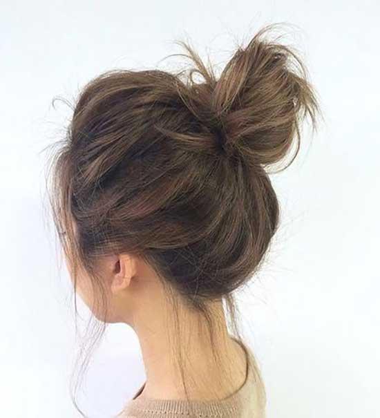 Easy Messy Bun for Short Hair