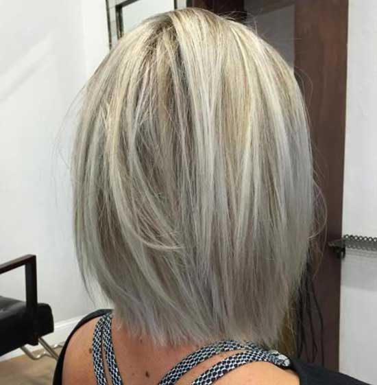 İce Blonde Short Haircuts for Women with Thin Hair-10