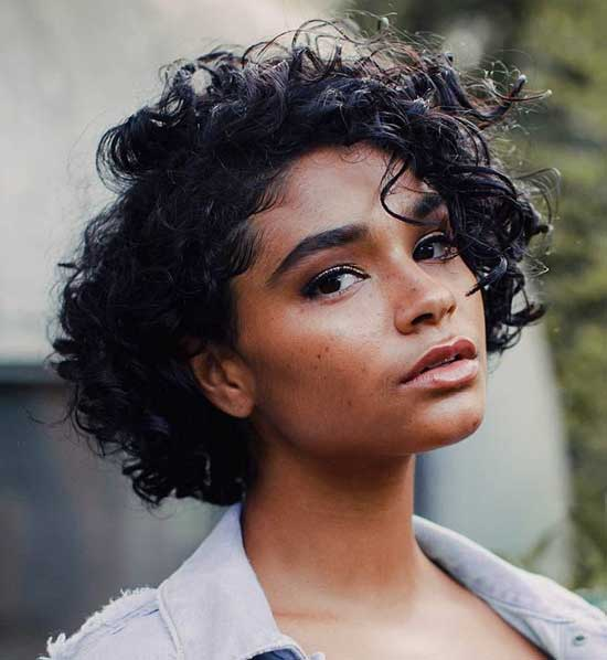 Short Natural Thick Curly Hair-12