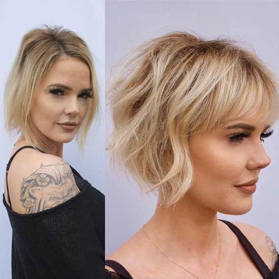 Short Haircuts with Bangs for Women with Thin Hair-14