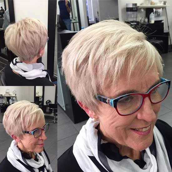 Thin Short Haircut Styles for Women Over 50-16