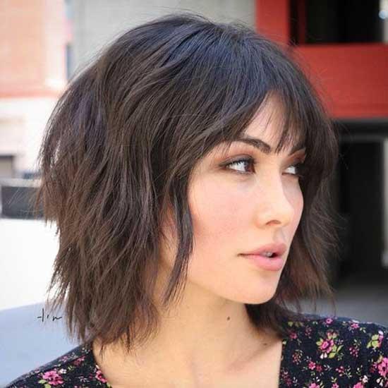 Medium To Short Hair Styles Fine Bangs-18