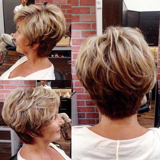 Short Haircut Styles for Women Over 50-22