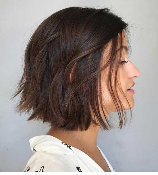 2020 Dark Brown Short Hair-23