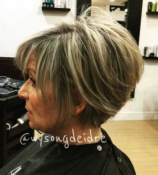 Short Haircut Styles for Women Over 50-23