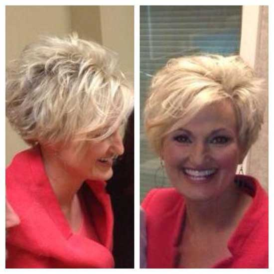 Short Haircut Styles for Women Over 50-24