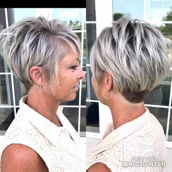 Short Haircut Styles for Women Over 50-26