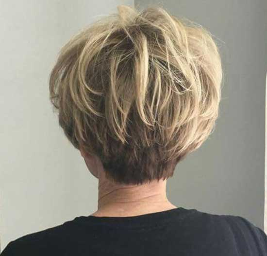 Short Haircut Styles for Women Over 50-28