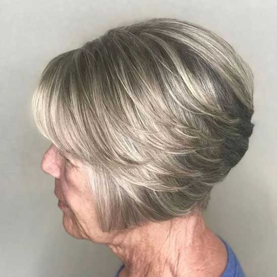 Short Haircut Styles for Women Over 50-34