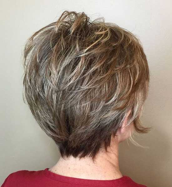 Short Haircut Styles for Women Over 50-35