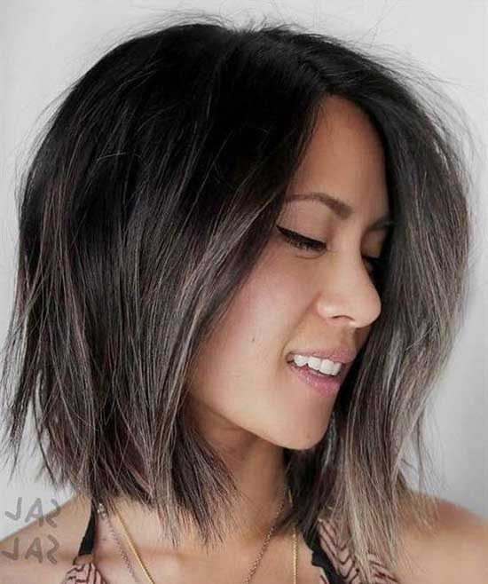 Ash Brown Lights Medium To Short Hair Styles-8