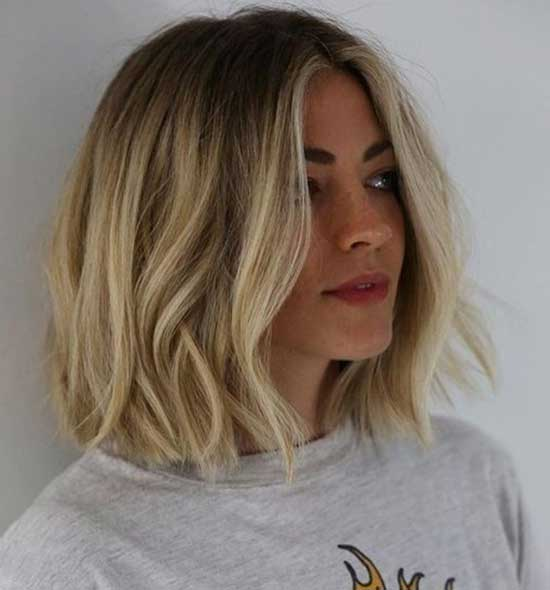 Blonde Medium To Short Hair Styles-9