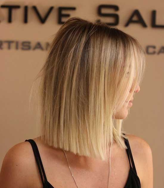 Short Blunt Haircuts for Women with Thin Hair-9