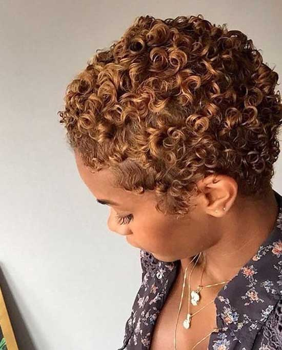 Short Natural Copper Curly Hair-9